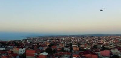 Tekirdağ'da film sahnelerini aratmayan görüntüler! Polis ekipleri helikopter destekli uyuşturucu operasyonu düzenledi