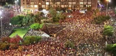 Tel Aviv'de Netanyahu hükümeti karşıtı protesto