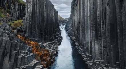 Buzul Çağlar'dan kaldığı iddia ediliyor! Muhteşem doğa güzelliği Bazalt kanyonu