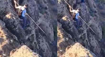 Çobanların yüksek yerlerden mızrakla inme inme yöntemleri!
