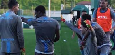 Trabzonspor antrenmanında Uğurcan Çakır şov!