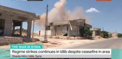 TRT World ekibi İdlib'de ölümle burun buruna geldi