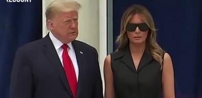 Trump'ın eşi Melania'ya canlı yayındaki baskısı viral oldu