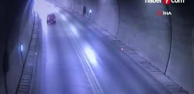 Tüneldeki feci kaza kamerada!