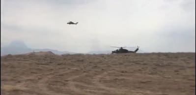 TurAz Kartalı Tatbikatı'ndan yeni görüntüler... ATAK helikopterlerimiz hedefleri tam isabetle imha ediyor