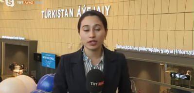 Türkistan'da tarihi gün! İlk uçuş gerçekleşti!