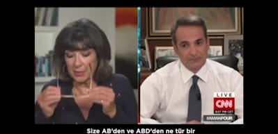 Türkiye'yi suçlayan Yunanistan Başbakanı Miçotakis'in cevap veremediği anlar!