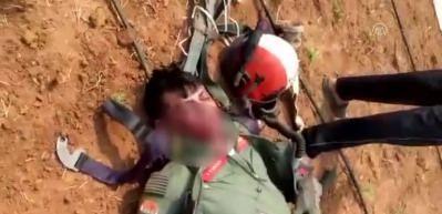 Yaralı Hint pilotun görüntüleri yayınlandı!