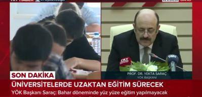 YÖK Başkanı Saraç'tan son dakika açıklamalar: YKS ertelendi mi, üniversiteler açılacak mı?