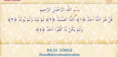 İhlas suresi Arapça okunuşu! İhlas suresi meali