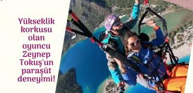 Yükseklik korkusu olan oyuncu Zeynep Tokuş'tan şaşırtan cesaret!
