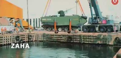 Zırhlı Amfibi Hücum Aracı ZAHA'da kendini düzeltme testi başarıyla tamamlandı