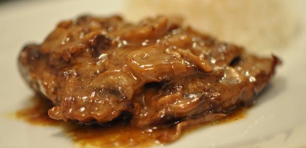 Yabani mantar soslu dana bonfile