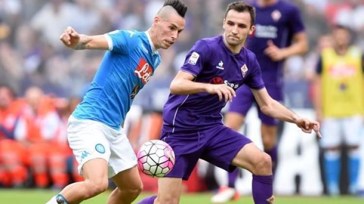 Napoli'ye şampiyonluk yolunda darbe