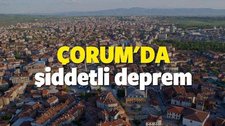 Son depremler - Çorum'da şiddeti deprem! - SON DAKİKA (02.11.16)