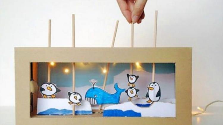 Çocuklar için karton kutudan oyuncak fikirleri