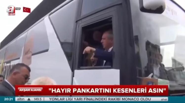 """CHP'li Muharrem İnce'den skandal! """"Hayır pankartını keseni asın"""""""