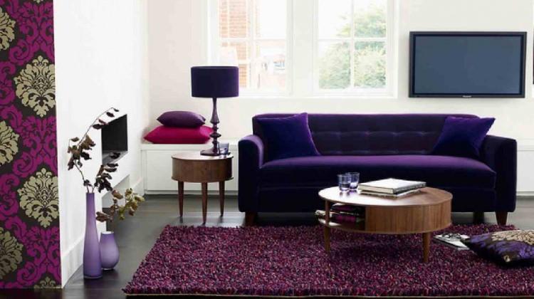 Ferah salonların rengi: Mor