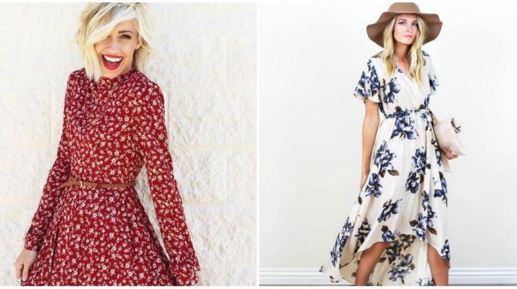 2017 İlkbahar-Yaz çiçek elbise modelleri