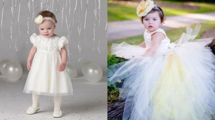 Bebekler için en güzel gelinlik modelleri