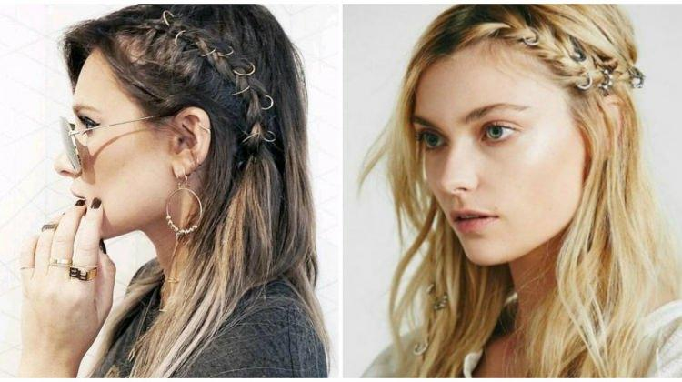 Saç küpesi ile yapılan saç modelleri