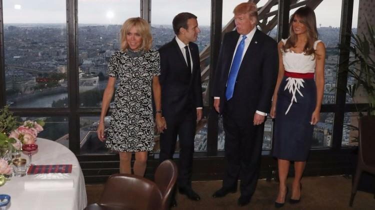 Macron Un Esi Icin Trump Tan Ilginc Sozler Dunya Haberleri