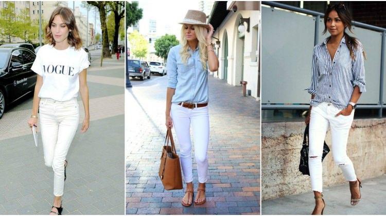 Beyaz pantolonla yapılabilecek kombin önerileri