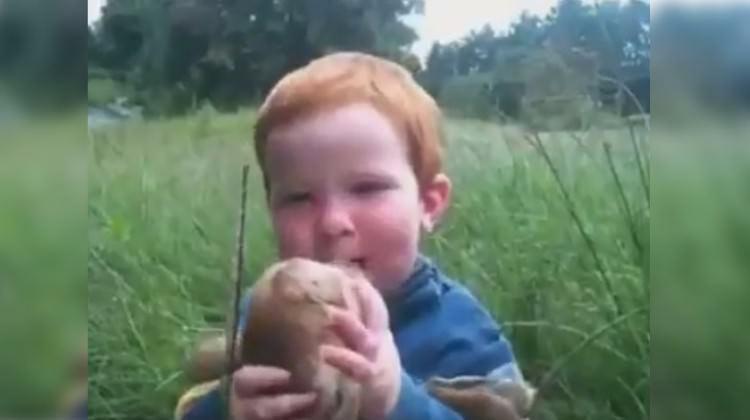 Çocukla kuzunun inanılmaz dostluğu