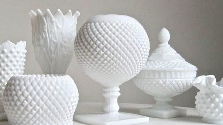 Süt camından yapılmış özel tasarımlar