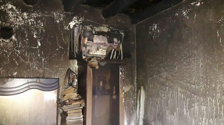 Ağrı'da ev yangını