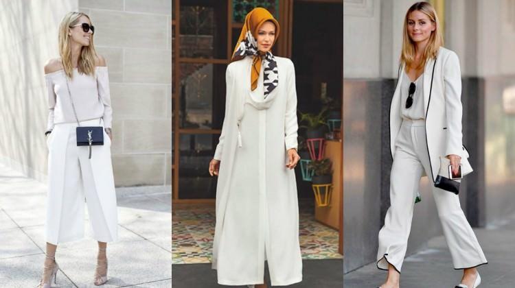 Sokak modasının yeni trendi 'beyaz kombinler'