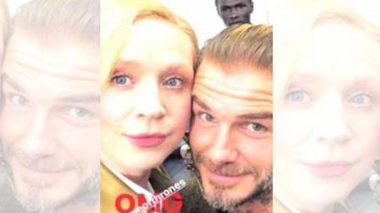 Beckham, Game Of Thrones oyuncusuyla selfie çekti!