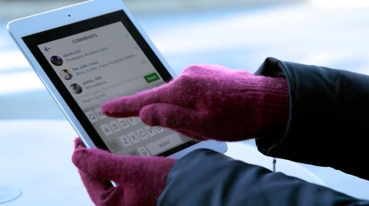 Dokunmatik ekran algılayan eldivenler