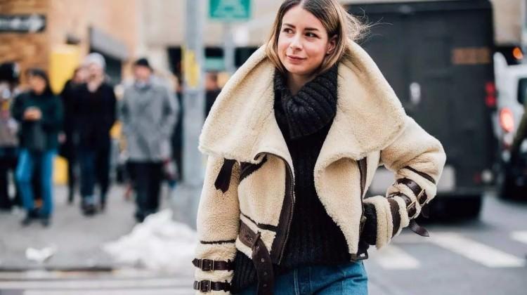 """Sezonun yükselen modası """"Shearling ceketler"""""""