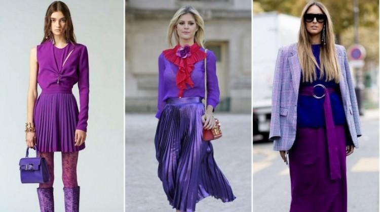 2018'de modanın trend rengi: Mor