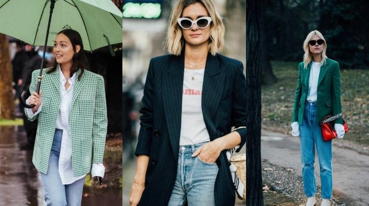 Blazer ceket ve denim modası kombin önerileri