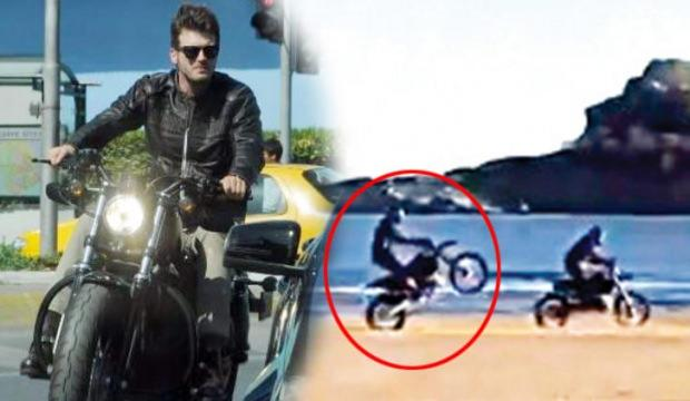 Kıvanç Tatlıtuğ motorsikletiyle sınırları zorladı