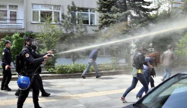 Ankara'da sıcak saatler! Polis müdahale etti