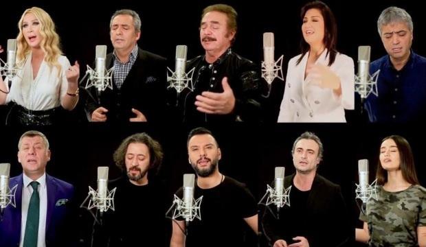 Ünlüler 'Milletin Duası' türküsünde buluştu