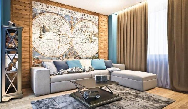 Dekorasyonda dünya haritası trendi