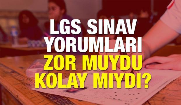 2018 MEB LGS yorumları! Liseye Geçiş Sınavı nasıldı? Tüm detaylar
