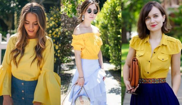 Sezonun öne çıkan sarı kıyafetleri