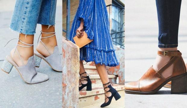 Blog topuklu ayakkabı modası