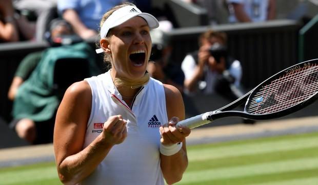 Wimbledon'da ilk finslist Kerber oldu!