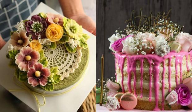 En şık tasarımlarıyla yenilebilir 15 çiçek pasta