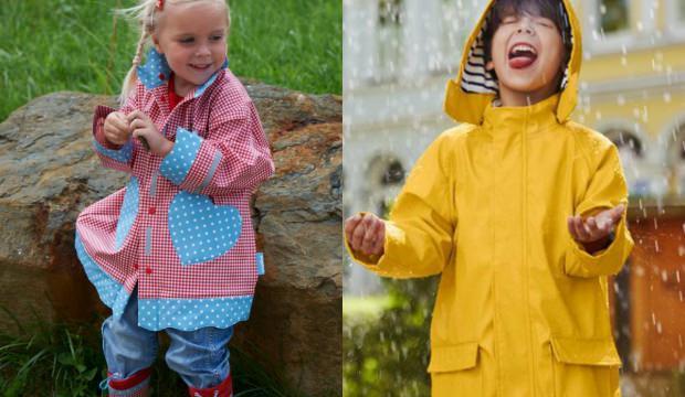 Çocuklar için yağmurluk modelleri