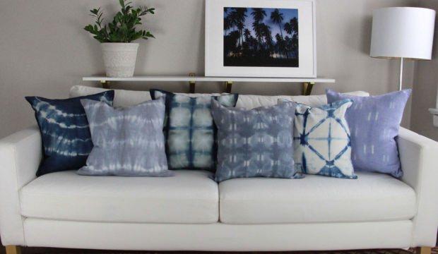 Evde shibori yastık nasıl yapılır?