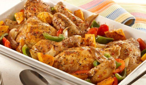 Kış sebzeli fırın tavuk tarifi
