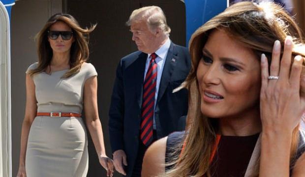 Melania Trump eşi olmadan ilk kez tura çıkıyor