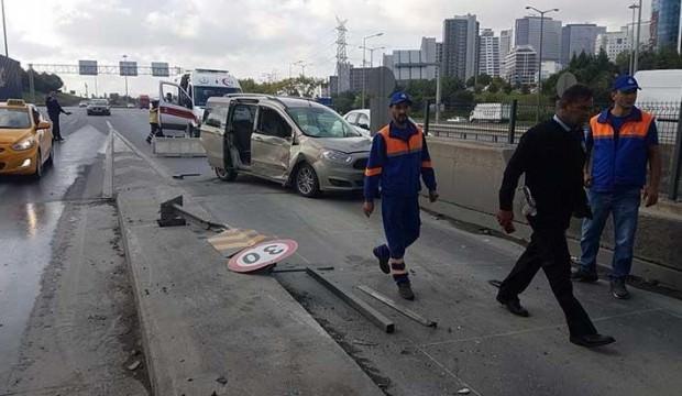 İstanbul'da akılalmaz kaza! Gişeye sığamadılar